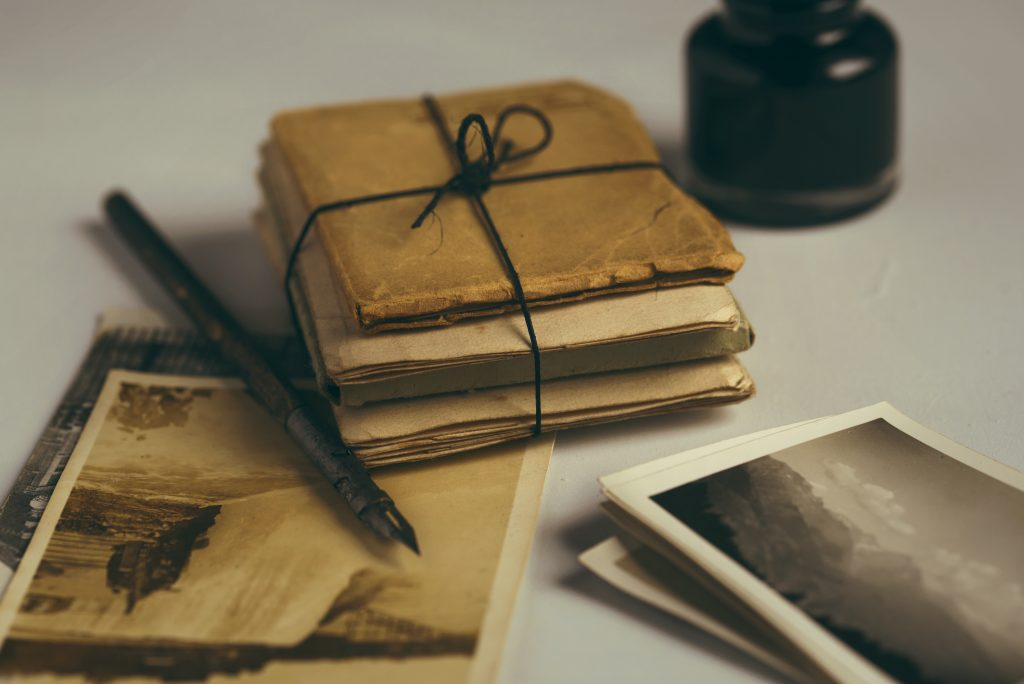 antique papers writing